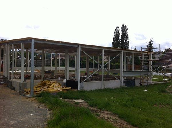 Construction des vestiaires du Rugby Clermont Club 11 juin 2013