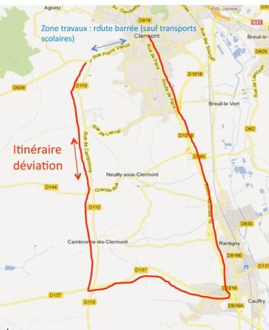 Travaux rue Pierre Vienot Plan de deviation