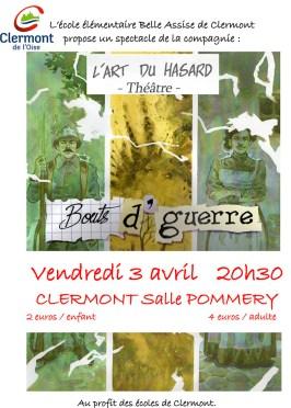 """""""Bouts d'Guerre"""" : représentation théâtrale proposée par l'école élémentaire Belle-Assise et la compagnie l'Art du Hasard - Clermont (Oise)"""