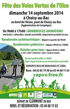 Fête des Voies Vertes de l'Oise, dimanche 14 septembre 2014 - Clermont (Oise)