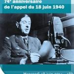 74è anniversaire de l'appel du 18 juin 1940, mercredi 18 juin 2014 - Clermont Oise