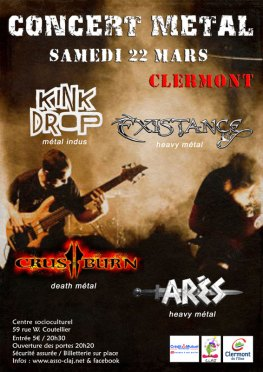Concert Métal, samedi 22 mars 2014 - Clermont Oise