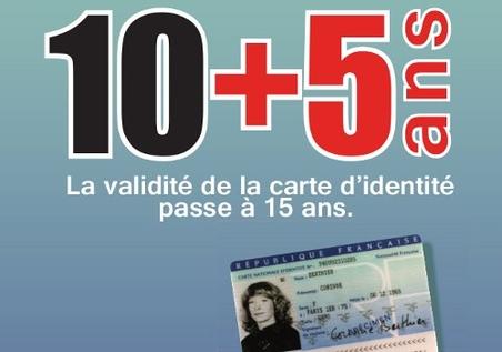 La carte nationale d'identité est valide 15 ans à compter du 1er janvier 2014 - Clermont Oise