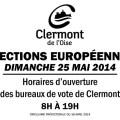Élections Européennes - dimanche 25 mai 2014 - Clermont Oise