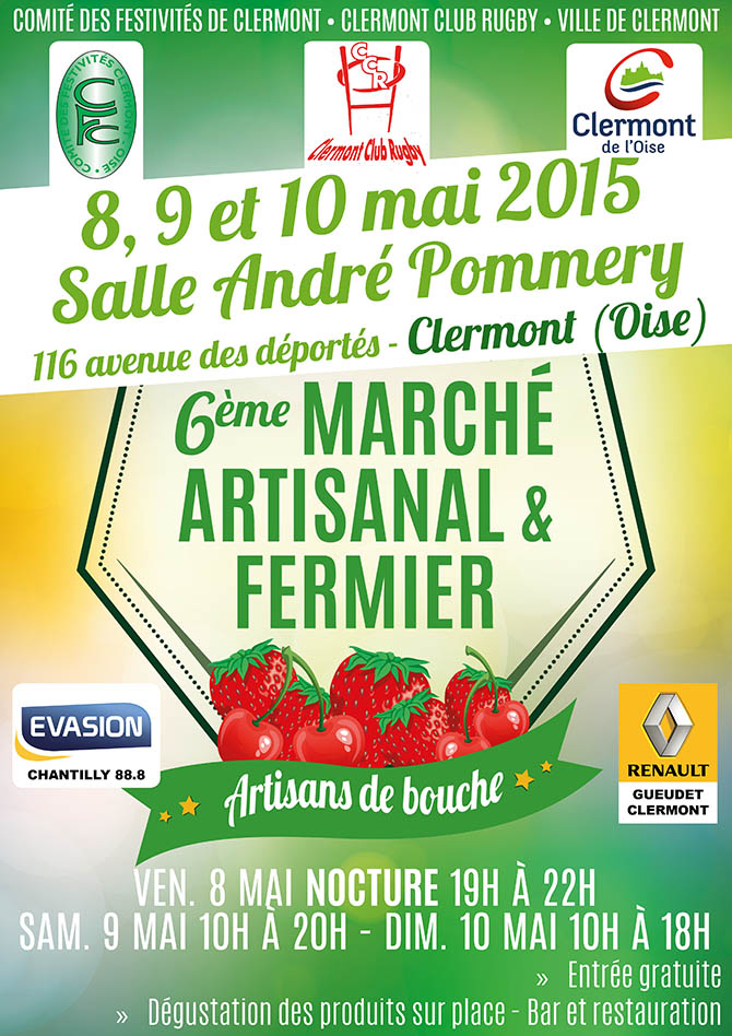 6ème marché artisanal et fermier 2015, du 8 au 10 mai 2015 - Clermont Oise