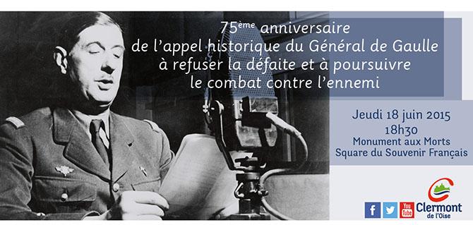 75ème anniversaire de l'appel historique du Général de Gaulle - Clermont Oise