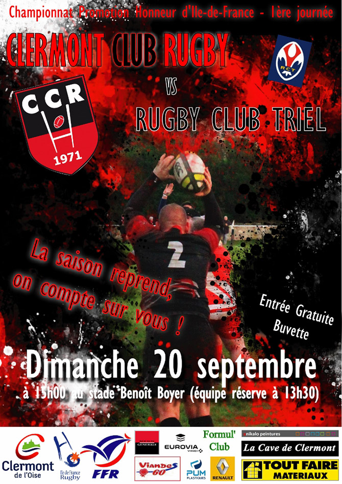 Clermont Club Rugby vs Rugby Club Triel - Clermont Oise