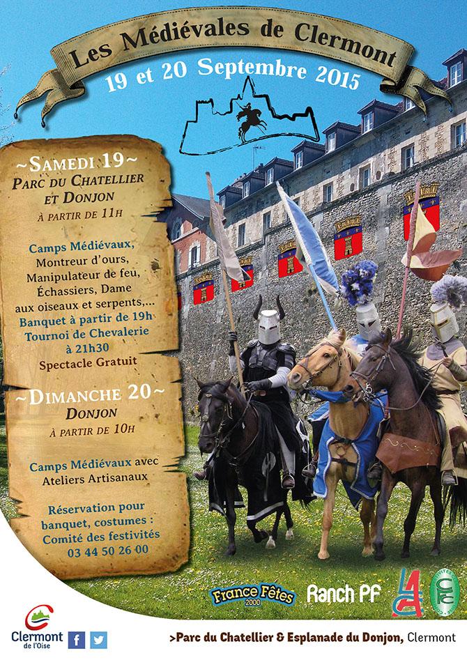 Les Médiévales de Clermont - Edition 2015, les 19 et 20 septembre - Clermont Oise