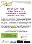 Le Bus - information : Arrêt « Commerces » non-desservi le 3 octobre Ligne 1, Ligne 2 et TAD A et TAD B - Clermont Oise