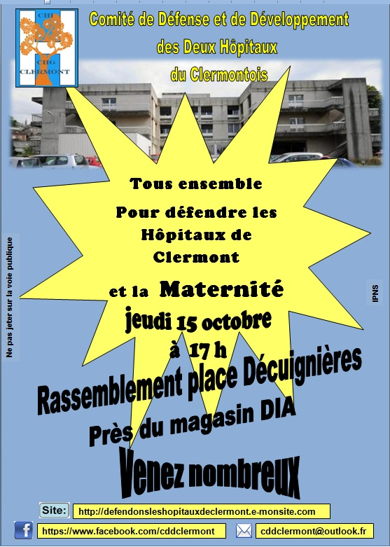 Comité de Défense et de Développement des deux Hôpitaux du Clermontois - Clermont Oise