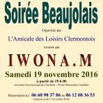 Soirée Beaujolais – l'Amicale des Loisirs Clermontois, samedi 19 novembre 2016