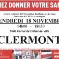 Collecte de sang par l'Établissement Français du Sang, vendredi 18 novembre 2016