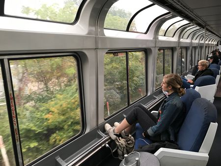 Amtrak's Capitol Limited train travels from Washington, D.C., to Chicago via Cleveland.