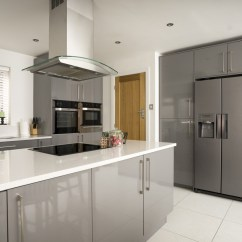 Kitchen Extractor Fan Shelving Grey Gloss | Cleveland Kitchens Liverpool