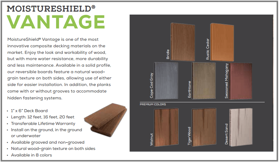 aristokraft kitchen cabinets suites moistureshield composite decking | cleveland lumber co.