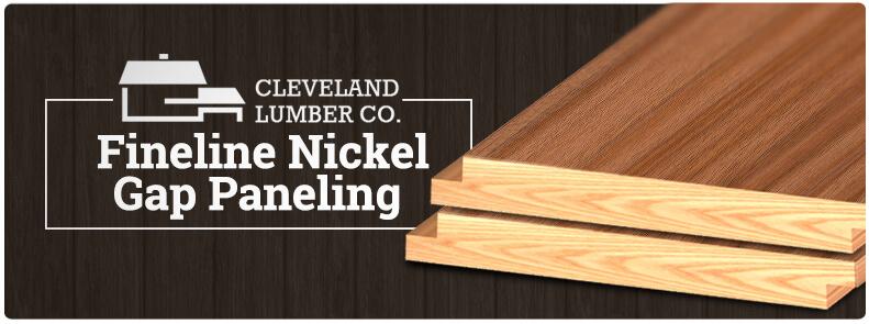 Fineline Nickel Gap Shiplap Paneling  Cleveland Lumber Co