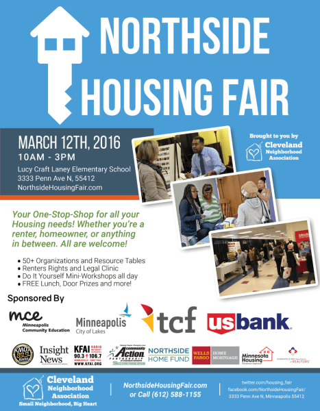 900px wide Northside Housing Fair Poster