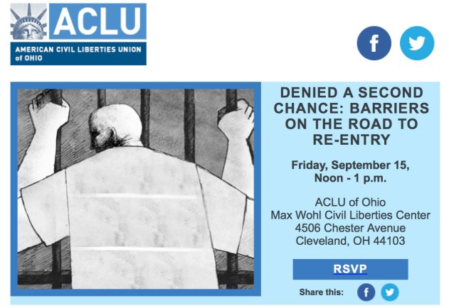 Denied a Second Chance @ ACLU of Ohio Max Wohl Civil Liberties Center | Cleveland | Ohio | United States