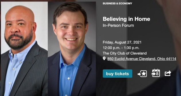 Believing in Home (In-Person Forum) @ The City Club of Cleveland