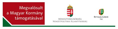 Megvalósult a Magyar Kormány támogatásával / Made possible through support from the Hungarian government