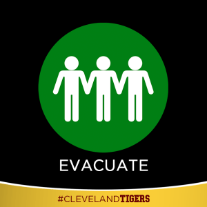 all or part of the district is currently evacuating to a new location either on or off campus. More information will follow.