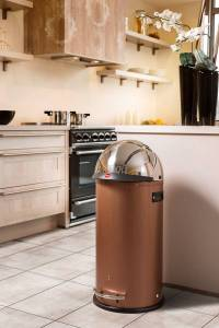 clever-storage | Waste bins in copper & gold