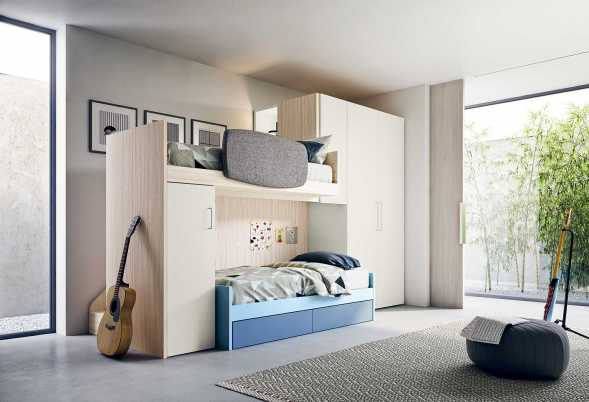Kids Bedrooms With Loft Amp Bunk Beds Clever