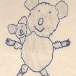 Drawing of koala with baby by Dione Gardner-Stephen