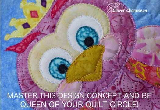 Princess owl patchwork