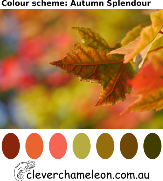Autumn splendour colour palette from Colour Inspiration Tuesday