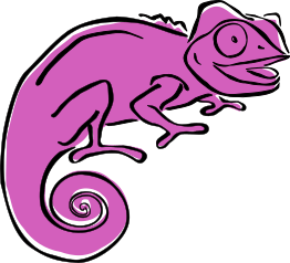 purple Clever Chameleon logo