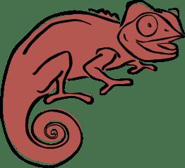 Clever Chameleon logo brown
