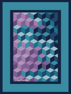 Jewel tone Diamonds quilt idea from Clever Chameleon