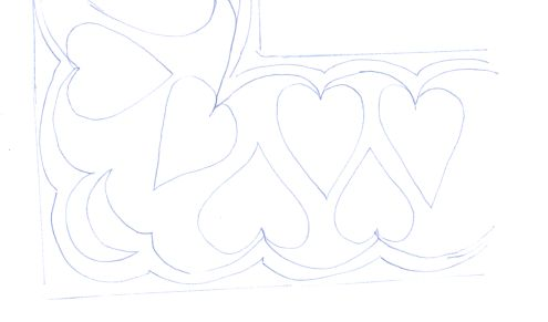 heart border doodle