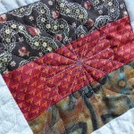 Free-motion quilting with baking paper