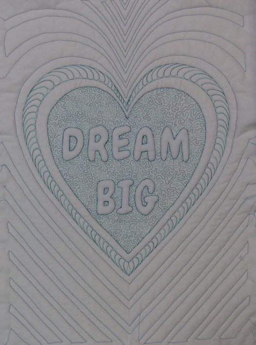 Dream Big with echo quilting