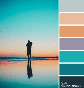 Silhouettes at Sunset color scheme from Clever Chameleon