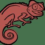Brown Clever Chameleon Logo