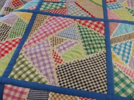 gingham and rickrack crazy quilt