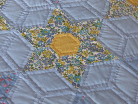Hand-stitched and Hand-quilted bed quilt