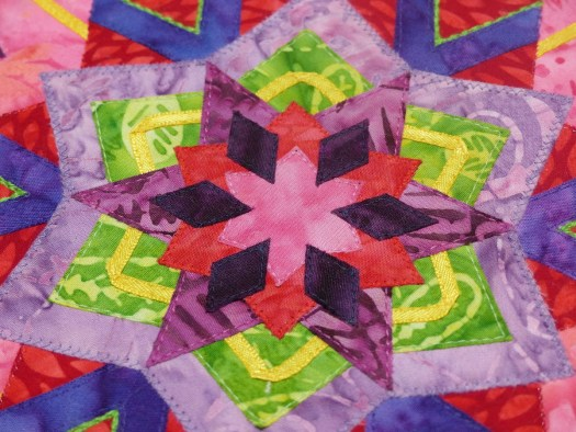 Kaleidoscope mini quilt detail