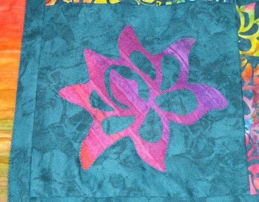 Lotus appliqué shape