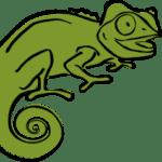 Green Clever Chameleon logo