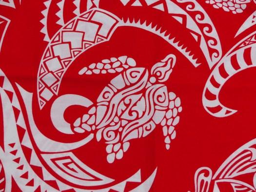 Turtle motif on fabric from Vanuatu