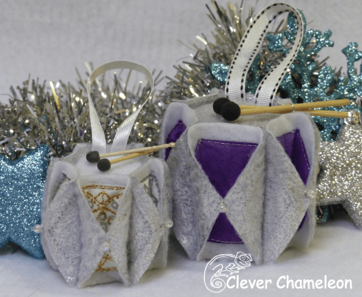 Drum ornaments for Christmas