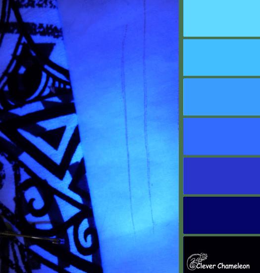 Blacklight Blue color scheme from Clever Chameleon