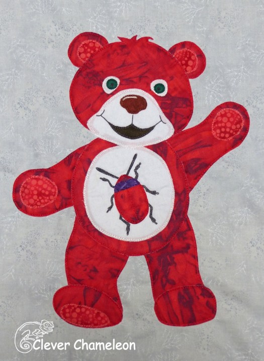 Red Beetle Bear from the Beary Colourful BOM