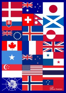 Flags Quilt idea by Clever Chameleon