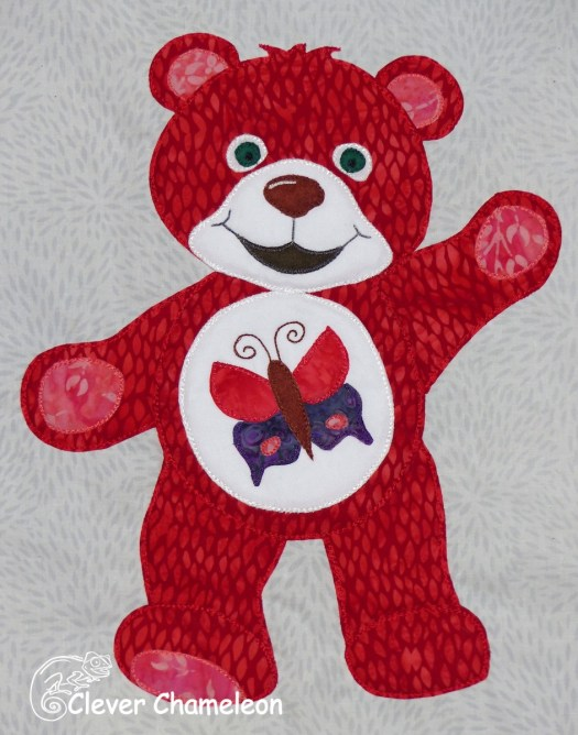 Red Bear of New Beginnings: Beary Colourful BOM at Clever Chameleon