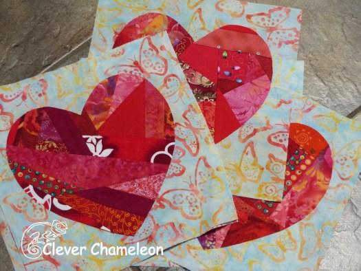 scrappy heart quilt blocks